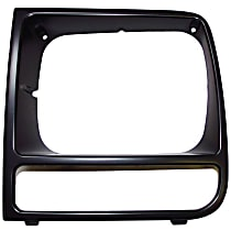 Crown 55055137 Headlight Bezel - Black, Direct Fit, Sold individually