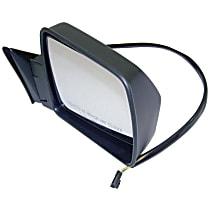 Passenger Side Mirror - Power Glass, Power Folding, Black