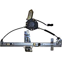 55076466AG Front, Passenger Side Manual Window Regulator, Manual Crank Type