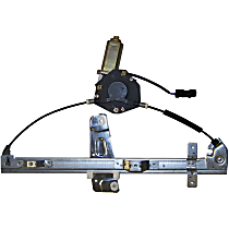Front, Passenger Side Manual Window Regulator, Manual Crank Type