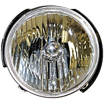 55078148AC Passenger Side Halogen Headlight, With bulb(s)