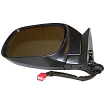 Passenger Side Non-Heated Mirror - Manual Glass,, Black