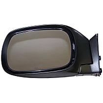 Driver Side Non-Heated Mirror - Manual Glass,, Black