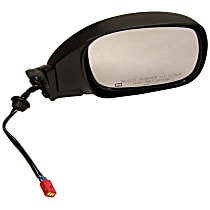 Passenger Side Heated Mirror - Power Glass,, Black