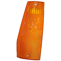 56000111 Side Marker Lens - Front, Driver Side, Direct Fit, Amber, Plastic, Sold individually