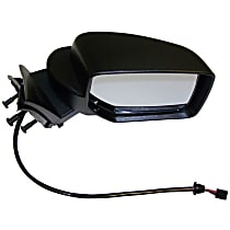 Passenger Side Heated Mirror - Power Glass, Without memory, Black