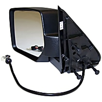 Driver Side Heated Mirror - Power Glass, With memory, Black