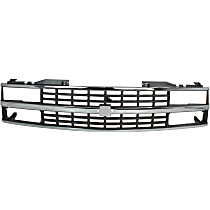 Grille, Chrome Shell with Black Insert