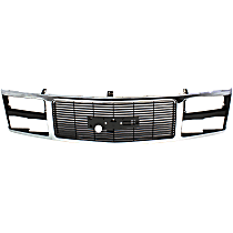 Grille Assembly - Chrome Shell with Black Insert