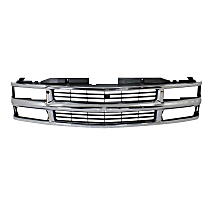 Front Matte Grey Finish w//Material Black Frame Body Grille Grill Replacement No Emblem 400-15466 GM1200449 21992586 CarPartsDepot