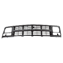 Grille Assembly - Painted Silver Gray Shell and Insert