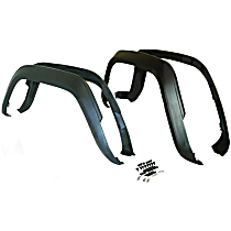 5AGK Front and Rear, Driver and Passenger Side Fender Flares, Black