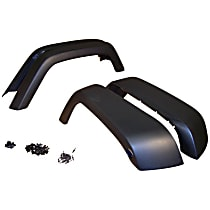 Front and Rear, Driver and Passenger Side Fender Flares, Textured Black
