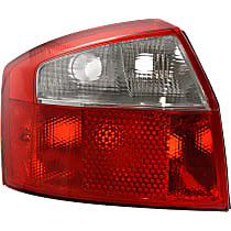 Driver Side Tail Light, Without bulb(s) - Clear & Red Lens, Base Model, Sedan