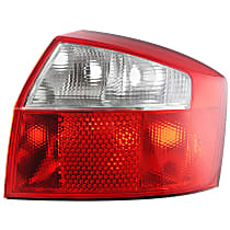 Passenger Side Tail Light, Without bulb(s) - Clear & Red Lens, Base Model, Sedan