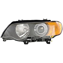 Driver Side HID/Xenon Headlight, With bulb(s) - With Yellow Turn Signal