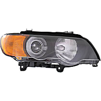 Passenger Side HID/Xenon Headlight, With bulb(s) - With Yellow Turn Signal