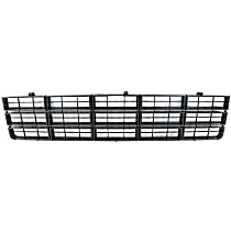Grille Assembly - Dark Silver Shell with Black Insert