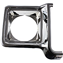 Passenger Side Headlight Door, Chrome and painted-dark argent