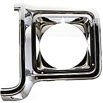 Driver Side Headlight Door, Chrome and painted-dark argent