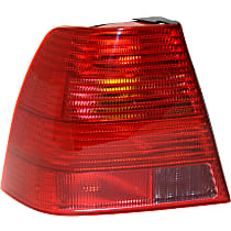 Driver Side Tail Light, Without bulb(s) - Red Lens, Sedan, New Body Style