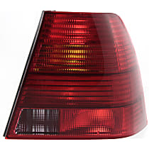 Passenger Side Tail Light, Without bulb(s) - Red Lens, Sedan, New Body Style