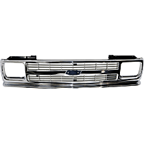 Grille Assembly - Chrome Shell with Painted Silver Insert