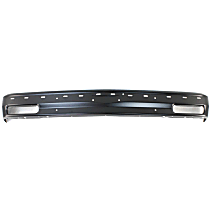 Bumper - Front, Powdercoated Black, with Impact Strip Holes