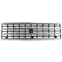 Grille Assembly - Silver Shell with Black Insert, with Single Headlights