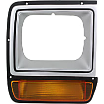 Passenger Side Headlight Door, Painted Silver