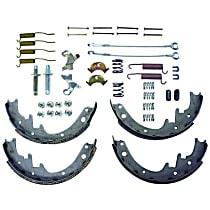 Crown 8133818MK Brake Shoe Set - Semi-metallic, Direct Fit, 2-Wheel Set