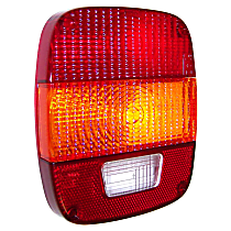 Crown Tail Light Lens - 83501003 - Front, Red and clear, Plastic, Direct Fit, Sold individually