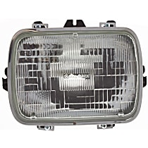 Driver or Passenger Side Halogen Headlight, With bulb(s) - Sealed Beam Type, 7 x 6 in.