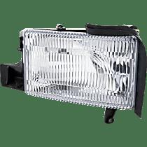 Passenger Side Headlight, With bulb(s) - (94-01 Ram 1500 94-02 2500/3500 Pickup) - Single Beam Hdlght, Old Body Style, w/o Corner Light