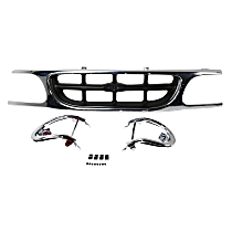 Grille Assembly - Chrome Shell with Silver Gray Insert