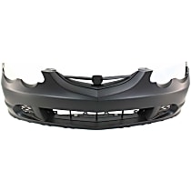 Front Bumper Cover, Primed - w/o parking aid sensor holes, w/o fog light holes