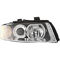 Passenger Side Halogen Headlight, With bulb(s) - B6 Body Code