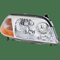 Passenger Side Halogen Headlight, Without bulb(s)