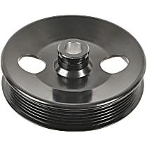 3P-15124 Power Steering Pump Pulley - Black, Steel, Serpentine, Direct Fit, Sold individually