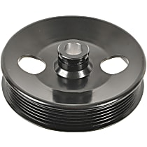 A1 Cardone 3P-15124 Power Steering Pump Pulley - Black, Steel, Serpentine, Direct Fit, Sold individually