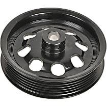 A1 Cardone 3P-15126 Power Steering Pump Pulley - Black, Steel, Serpentine, Direct Fit, Sold individually