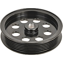 A1 Cardone 3P-15127 Power Steering Pump Pulley - Black, Steel, Serpentine, Direct Fit, Sold individually