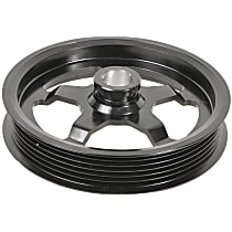 3P-15128 Power Steering Pump Pulley - Black, Steel, Serpentine, Direct Fit, Sold individually