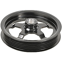 A1 Cardone 3P-15128 Power Steering Pump Pulley - Black, Steel, Serpentine, Direct Fit, Sold individually