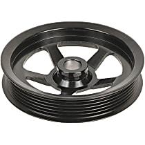 3P-15131 Power Steering Pump Pulley - Black, Steel, Serpentine, Direct Fit, Sold individually