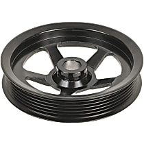 A1 Cardone 3P-15131 Power Steering Pump Pulley - Black, Steel, Serpentine, Direct Fit, Sold individually
