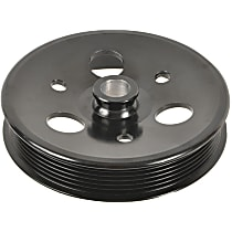 3P-15138 Power Steering Pump Pulley - Black, Steel, Serpentine, Direct Fit, Sold individually