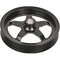 3P-15139 Power Steering Pump Pulley - Black, Steel, Serpentine, Direct Fit, Sold individually