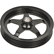 A1 Cardone 3P-15139 Power Steering Pump Pulley - Black, Steel, Serpentine, Direct Fit, Sold individually
