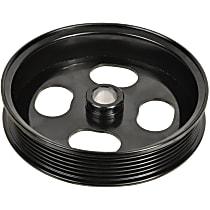 3P-15151 Power Steering Pump Pulley - Black, Steel, Serpentine, Direct Fit, Sold individually